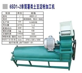 6SD1一2型红薯磨粉机的清洗输送机构造和原理